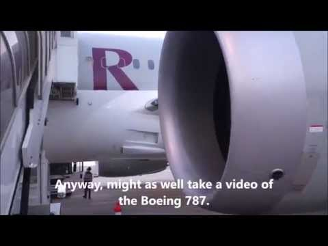 Qatar Airways Boeing 787 Singapore to Doha Economy (Squashed!)