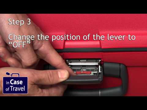Samsonite combination lock reset tsa007