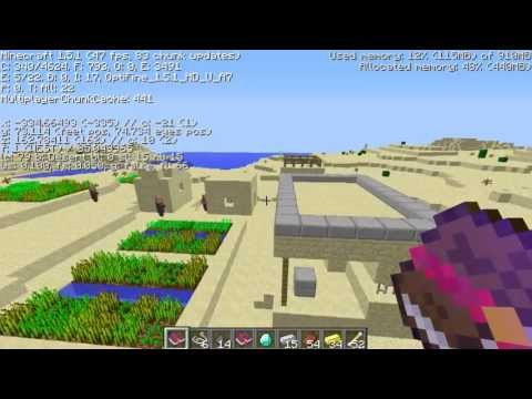 NPC village, 2 surface dungeons, 2 Desert temples Minecraft seed