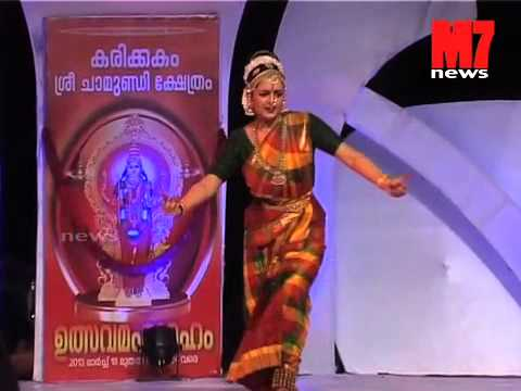 MANJU WARRIER performing classical dance in KARIKKAKOM temple