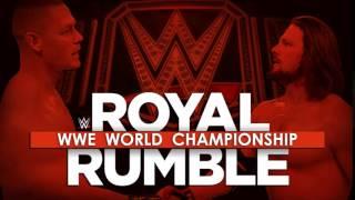 WWE Royal Rumble match card 2017 [John Cena vs AJ Styles]