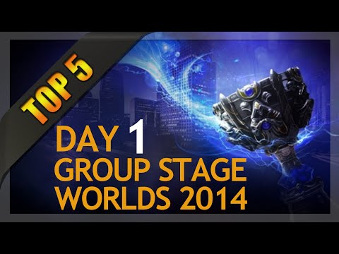 Top 5 Plays Worlds Group Stage 1 Day 1 League of Legends
