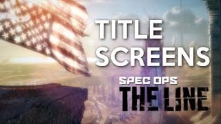 All Spec Ops: The Line Title Screens