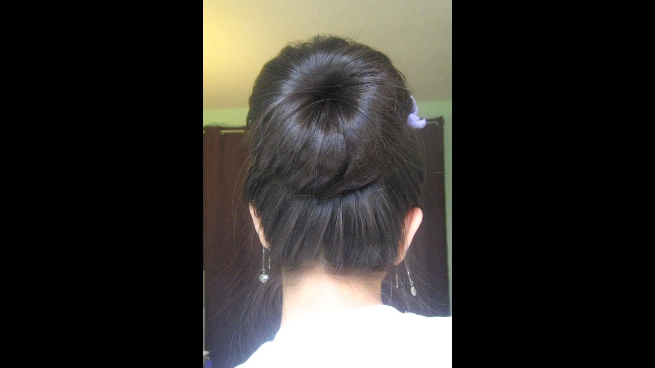 Sock Bun Hair Tutorial (For long fine hair!) - YouTube