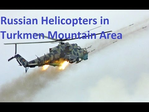 Russian Helicopters Strikes in Turkmen Mountains- Latakia, Syria