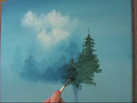 How To Paint Evergreen Trees With Acrylics