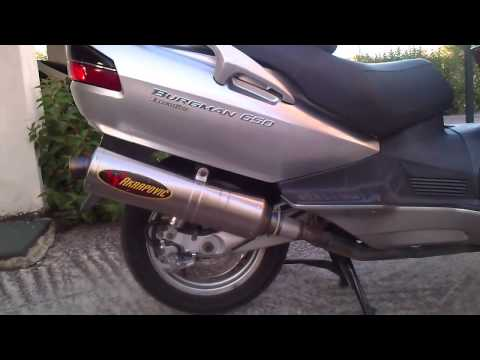 Suzuki Burgman 650 executive ABS K6 Akrapovic exhaust