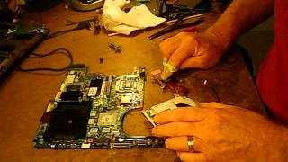 HP DV 9000 6000 MOTHER NO VIDEO REPAIR REFLOW CORRECT USE OF COPPER SHIMS