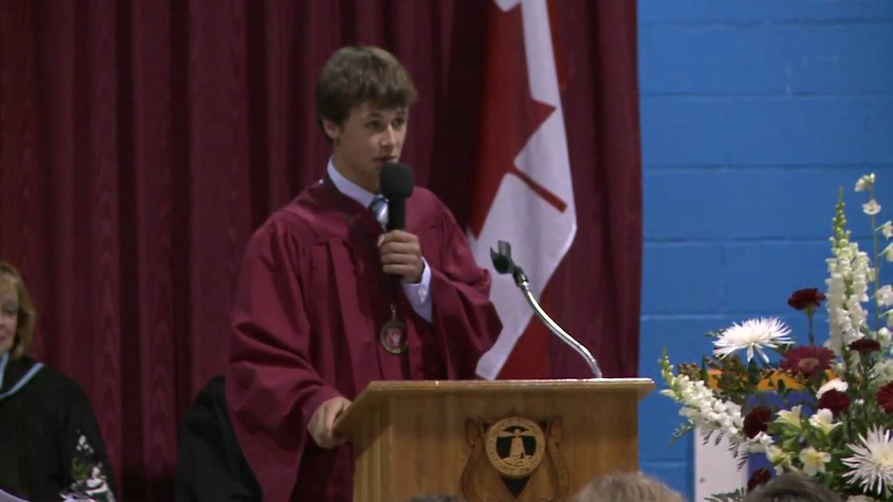 funny valedictorian speech The defiant, the funny and the touching college commencement speeches of the week  heartening and funny commencement speeches to.