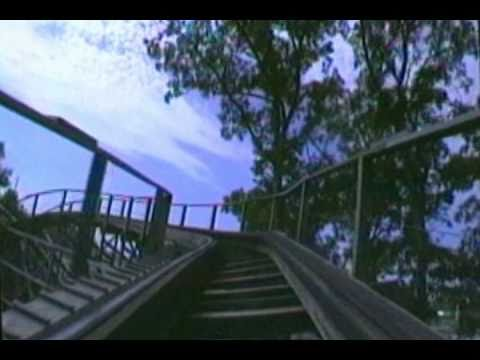Raven Wooden Roller Coaster Front Seat POV Onride Holiday World USA