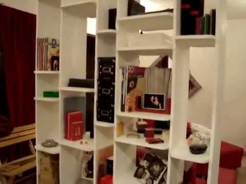 Muebles sobre dise o librero separador youtube - Libreros de madera modernos ...