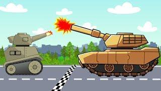 #Tank and #Truck, Dump Truck and Police car | Street Vehicles | Maszyny i pojazdy Bajki