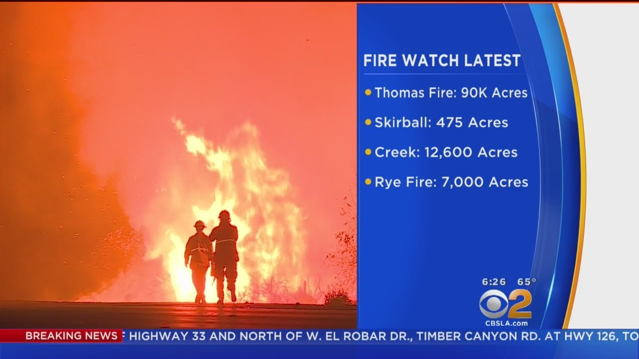 Latest On 4 Fires Burning Across LA, Ventura Counties