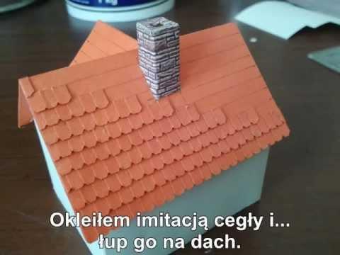 Budowa Makiety - Jak Zrobić Imitację Dachówki Na Budynku.
