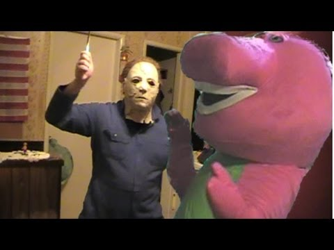 Halloween:Michael Myers Vs Barney The Dinosaur