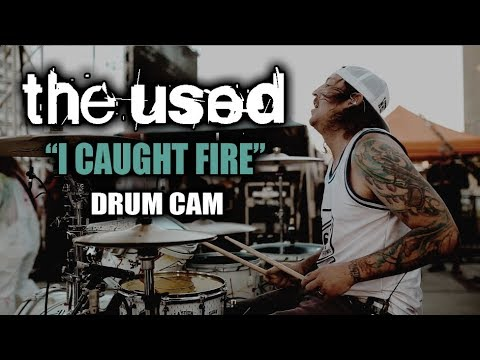 The Used | I Caught Fire | Drum Cam (LIVE) thumbnail