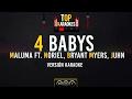 4 Babys - Maluma FT. Noriel, Bryant Myers, Juhn l Karaoke l @TopKaraokes 🎙