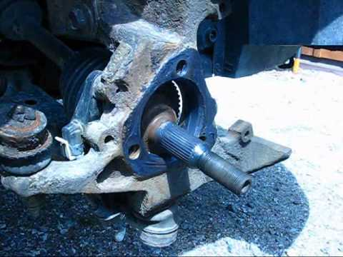 Changing front wheel bearing on Chevrolet Cavalier