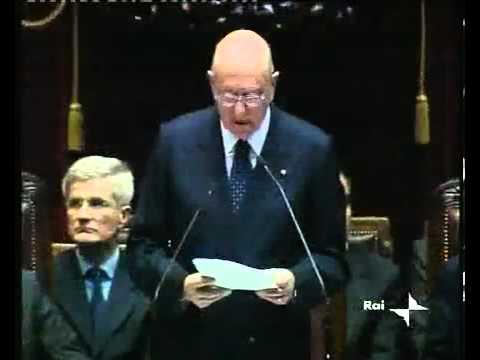 Giorgio Napolitano, insediamento alla Presidenza della Repubblica (2006)