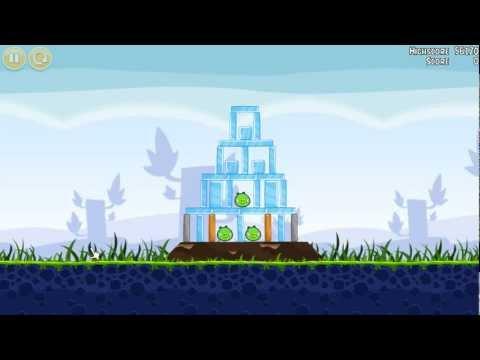 Angry Birds walkthrough level 1-12