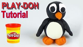 Play doh penguin