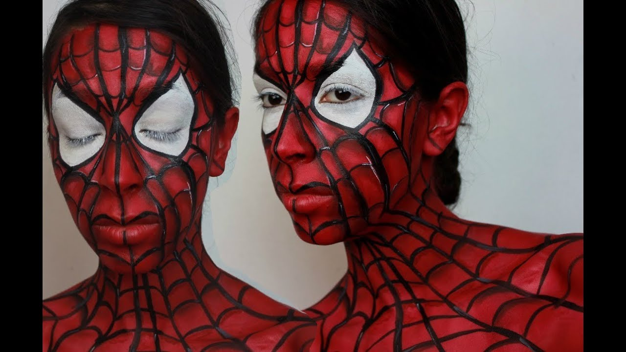 Halloween Spider Face Makeup Halloween Makeup Spider-man
