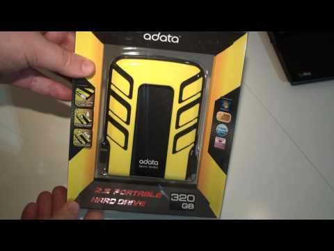 A-DATA SH93 Waterproof and Shock Resistant HDD Video Review