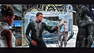 "Black Panther (2018) T'Challa and Shuri ""New Suit Scene"" HD"
