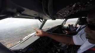 Cockpit Video Landing in Accra Ghana Kenya Airways B737 800