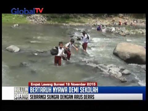 Jembatan Diputus Orang Tak Bertanggung Jawab, Pelajar SD Bertaruh Nyawa Ke Sekolah - BIS 19/11