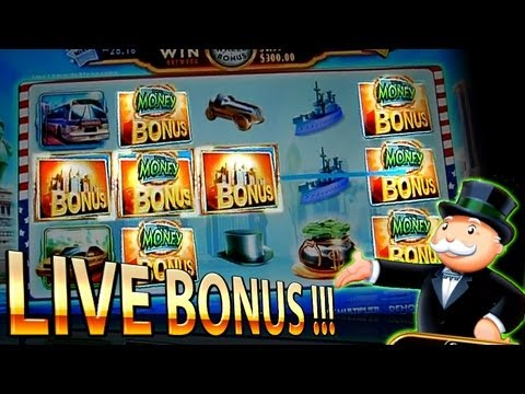 Live Bonus Super Monopoly Money 5c - Free Spins + Wheel - WMS Slots