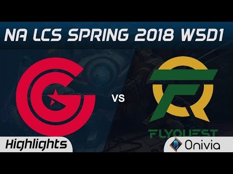 CG vs FLY Highlights NA LCS Spring 2018 W5D1 Clutch Gaming vs FlyQuest by Onivia