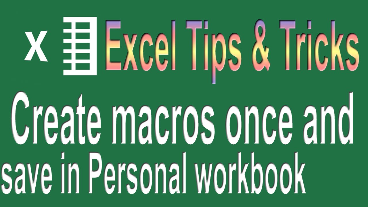Excel Tips  Create the Future