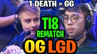 OG vs PSG.LGD (Game 1) TI8 Rematch! ONE DEATH COST THE GAME TI9 Dota 2