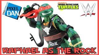 TMNT WWE Raphael as The Rock Ninja Superstars Turtles Figure Video Review