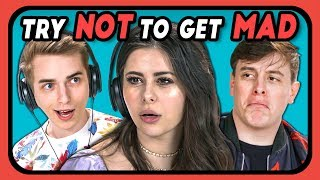 YouTubers React To Try Not To Get Mad Challenge