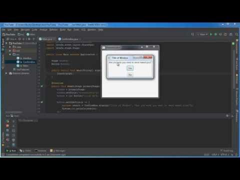 JavaFX Java GUI Tutorial - 6 - Communicating Between Windows