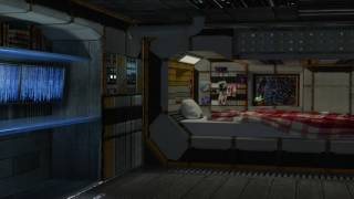 Spaceship Bedroom Ambience ? Relaxing in the Sleeping Quarters (White Noise, ASMR, Relaxation)