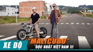 Chàng trai Bảo Lộc sáng tạo mô tô MALICUBU: khung CNC, lái Hub Center Steering cực ĐỘC