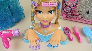 Elsa Hair shop nail art and Baby Doll toys
