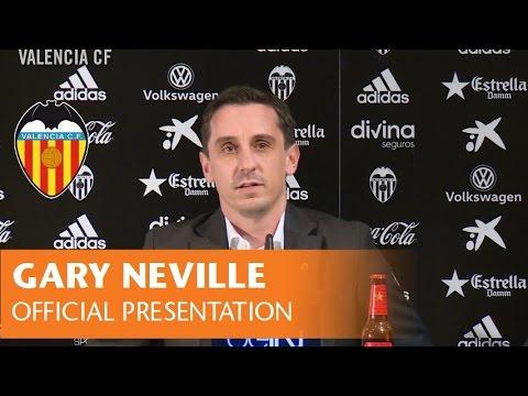 OFFICIAL PRESENTATION OF GARY NEVILLE AS NEW VALENCIA CF HEAD COACH