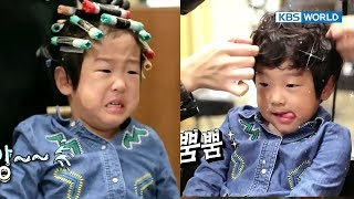 Twins get their firm perm... Seoeon bursts into tears [The Return of Superman/2018.01.07]