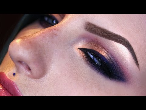 Purple and gold makeup tutorial