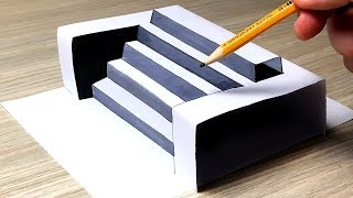 Ultimate Guide on How to Draw 3D Steps (Easy) - Cool Trick Art For Kids