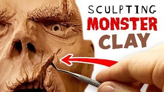 Sculpting MONSTER CLAY - This stuff is Epic!!