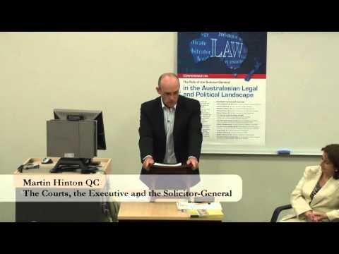 The Role Of The Solicitor General (Session 2) - 15 April 2011