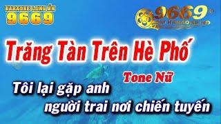 Karaoke Trăng Tàn Trên Hè Phố | Tone Nữ beat chuẩn | Nhạc sống LA STUDIO | Karaoke 9669