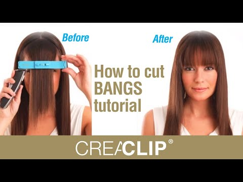 How to Cut Parted Bangs How to Cut Bangs Tutorial