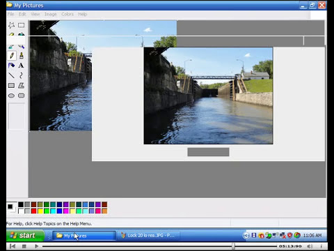 Using Paint to reduce photo size