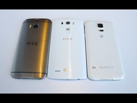 LG G3 vs Galaxy S5 vs HTC One M8: Quick Size Comparison
